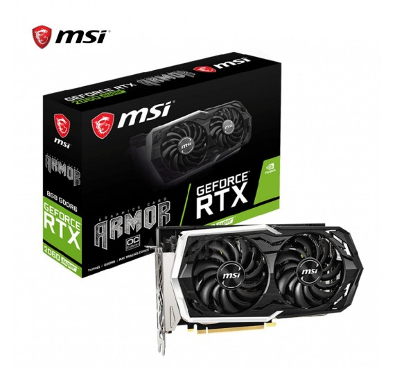 VGA (การ์ดแสดงผล) MSI GEFORCE® RTX 2060 SUPER ARMOR OC 8GB GDDR6 256 BIT 3 + 1Y