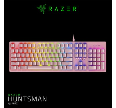 RAZER HUNTSMAN (KEYBOARD) QUARTZ PINK 2 Y.