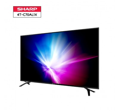 SHARP AQUOS 4K LED TV รุ่น 4T-C70AL1X ขนาด 70 นิ้ว UHD ANDROID TV 1Y.