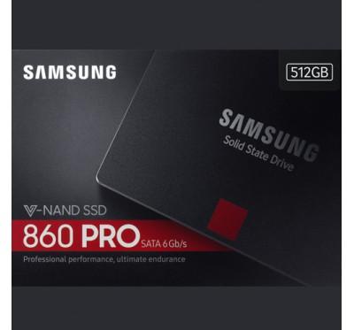 "512GB SSD (เอสเอสดี) SAMSUNG 860 PRO SATA III 2.5"" (MZ-76P512BW) 5Y"