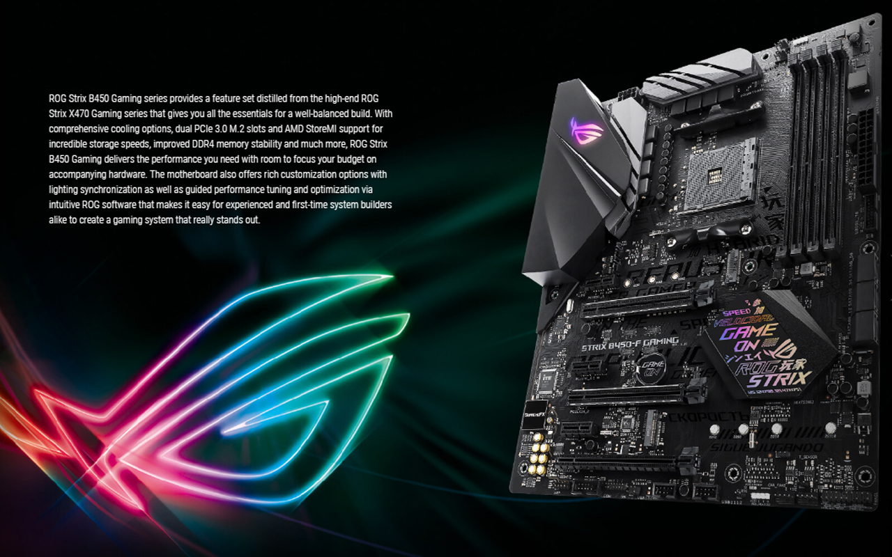 MAINBOARD (เมนบอร์ด) AM4 ASUS ROG STRIX B450-F GAMING ATX